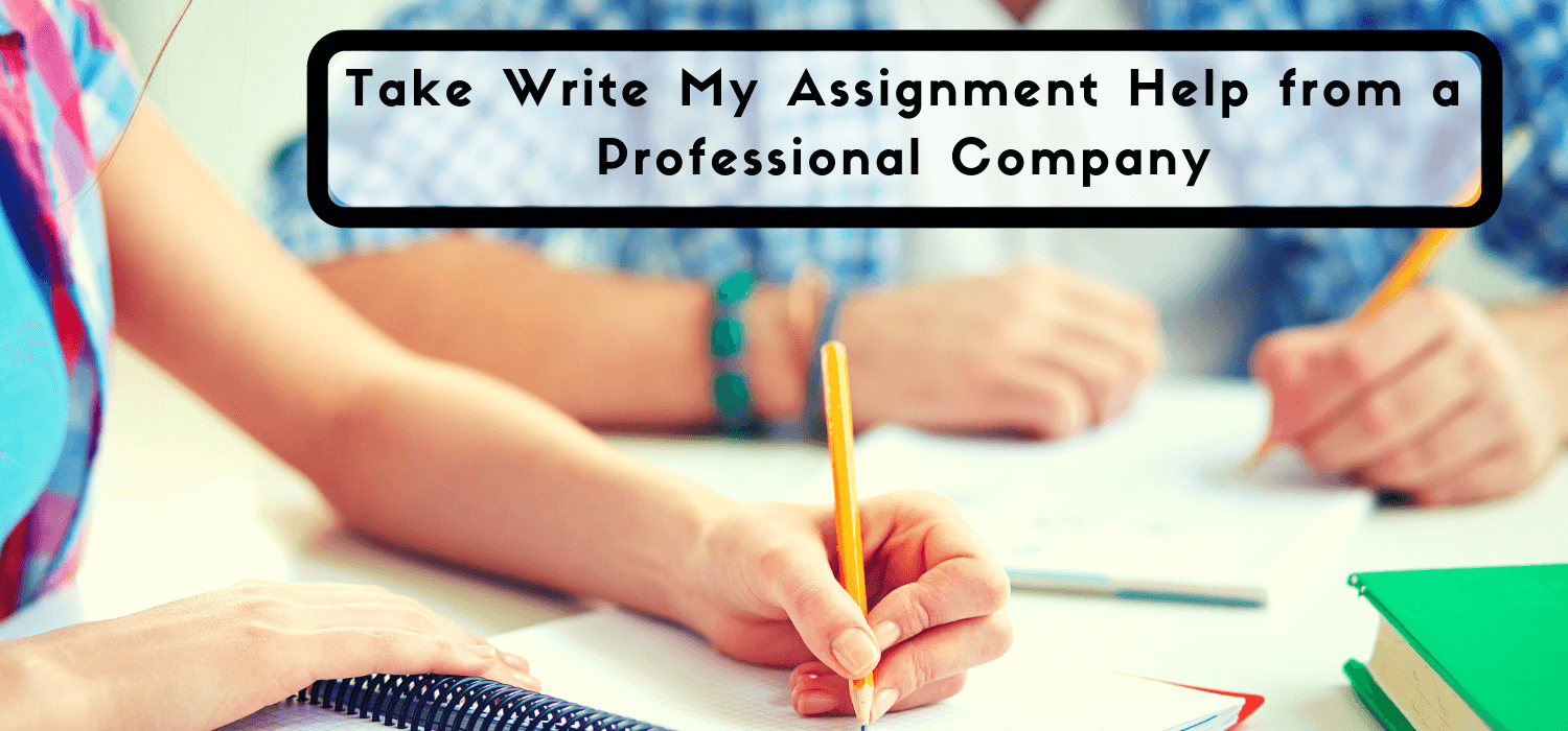 Take Write My Assignment Help from a Professional Company